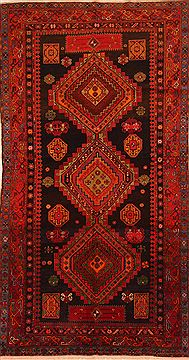 "Kazak Red Runner Hand Knotted 5'0"" X 9'7""  Area Rug 100-27536"