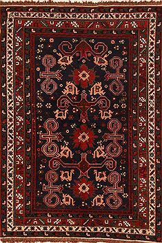 "Shirvan Red Hand Knotted 4'9"" X 6'8""  Area Rug 100-27539"
