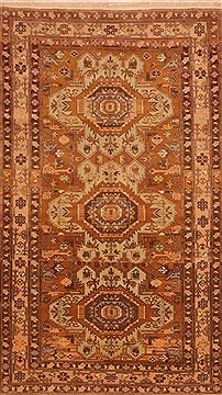 "Kazak Brown Hand Knotted 4'7"" X 8'0""  Area Rug 100-27544"