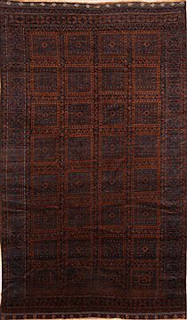 Afghan Baluch Brown Rectangle 7x10 ft Wool Carpet 27572