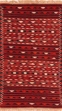 Afghan Maymeh Red Rectangle 4x6 ft Wool Carpet 27575