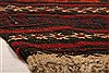 Baluch Red Runner Flat Woven 110 X 96  Area Rug 253-27580 Thumb 10