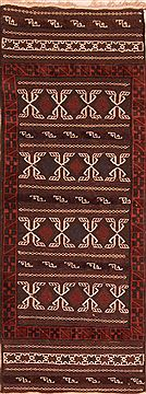 "Kilim Brown Runner Flat Woven 2'4"" X 6'0""  Area Rug 100-27614"