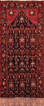 "Nahavand Red Runner Hand Knotted 3'6"" X 13'2""  Area Rug 100-27733"