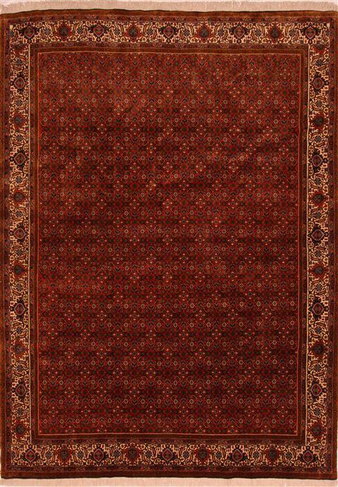 Persian Bidjar Brown Rectangle 7x9 Ft Wool Carpet 27761