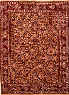 "Hamedan Red Hand Knotted 6'8"" X 9'1""  Area Rug 100-27762"
