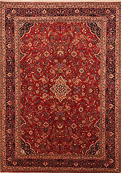 Persian Mashad Red Rectangle 7x10 ft Wool Carpet 27763