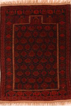 "Turkman Red Hand Knotted 3'9"" X 5'0""  Area Rug 100-27770"