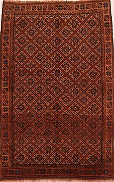 Afghan Baluch Brown Rectangle 5x7 ft Wool Carpet 27777