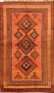 "Baluch Red Hand Knotted 4'2"" X 7'0""  Area Rug 100-27782"