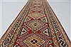 Kazak Red Runner Hand Knotted 26 X 105  Area Rug 250-27799 Thumb 11