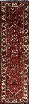 "Turkman Blue Runner Hand Knotted 2'9"" X 9'9""  Area Rug 250-27811"