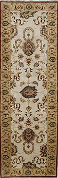 "Egypt Chobi  Wool Beige Runner Area Rug  (3'3"" x 10'1"") - 250 - 27816"