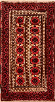 Afghan Baluch Beige Rectangle 3x5 ft Wool Carpet 27842