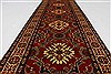 Kazak Red Runner Hand Knotted 27 X 105  Area Rug 250-27848 Thumb 1