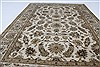Kashan Beige Hand Knotted 41 X 54  Area Rug 250-27867 Thumb 2
