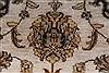 Kashan Beige Hand Knotted 41 X 60  Area Rug 250-27868 Thumb 10