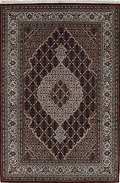 "Mahal Beige Hand Knotted 4'0"" X 6'0""  Area Rug 250-27873"