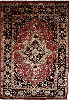 Persian Heriz Red Rectangle 7x10 ft Wool Carpet 27893