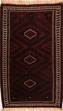 Afghan Baluch Red Rectangle 4x6 ft Wool Carpet 27933
