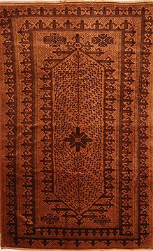 Afghan Baluch Brown Rectangle 7x10 ft Wool Carpet 27937