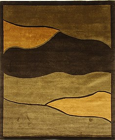 Tibetan Green Hand Knotted 7 11 X 9 Area Rug 252
