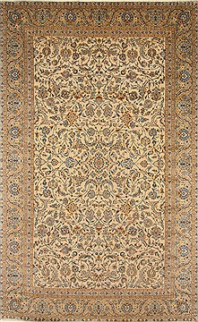 "Kashan Blue Hand Knotted 8'8"" X 14'2""  Area Rug 100-27948"