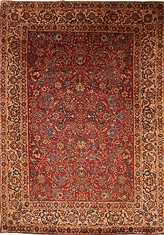 "Yazd Blue Hand Knotted 8'1"" X 11'4""  Area Rug 100-27949"