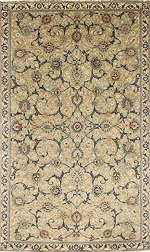 "Persian Tabriz  Wool Blue Area Rug  (5'8"" x 9'6"") - 252 - 27956"