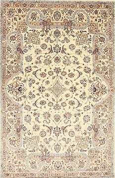 Persian Nain Blue Rectangle 7x10 ft Wool Carpet 27966