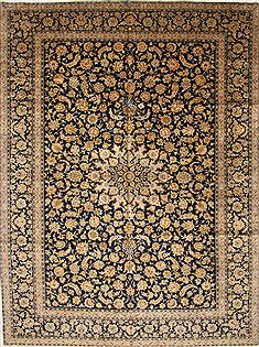 "Kashan Beige Hand Knotted 10'3"" X 13'7""  Area Rug 100-27985"