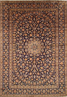 "Kashan Green Hand Knotted 9'8"" X 14'4""  Area Rug 100-27986"