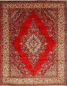 Persian Hamedan Blue Rectangle 10x14 ft Wool Carpet 27993