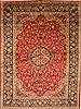 Isfahan Red Hand Knotted 101 X 136  Area Rug 100-27996 Thumb 0