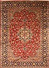 Isfahan Red Hand Knotted 95 X 133  Area Rug 100-28001 Thumb 0