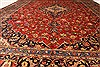 Kashan Red Hand Knotted 96 X 129  Area Rug 100-28015 Thumb 5