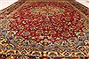 Isfahan Red Hand Knotted 98 X 139  Area Rug 100-28016 Thumb 5