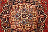 Kashan Red Hand Knotted 98 X 128  Area Rug 100-28018 Thumb 10