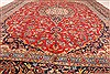 Kashan Red Hand Knotted 98 X 128  Area Rug 100-28018 Thumb 8