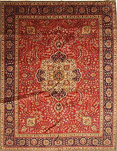 Persian Tabriz Blue Rectangle 10x13 ft Wool Carpet 28019
