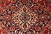 Kashan Red Hand Knotted 94 X 132  Area Rug 100-28022 Thumb 6
