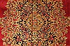 Kerman Green Hand Knotted 98 X 132  Area Rug 100-28023 Thumb 9