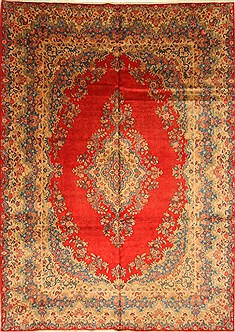 "Hamedan Beige Hand Knotted 8'9"" X 12'2""  Area Rug 100-28025"