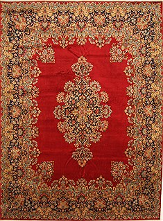"Kashmar Green Hand Knotted 9'6"" X 13'1""  Area Rug 100-28044"
