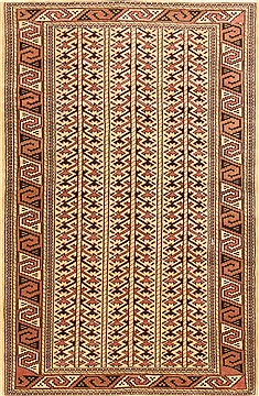 "Ghoochan Brown Hand Knotted 3'4"" X 5'0""  Area Rug 100-28057"