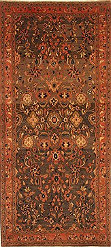 "Hamedan Purple Runner Hand Knotted 5'2"" X 11'3""  Area Rug 100-28073"