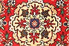 Tabriz Beige Runner Hand Knotted 37 X 146  Area Rug 100-28076 Thumb 2