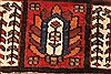 Bakhtiar Red Hand Knotted 51 X 85  Area Rug 100-28078 Thumb 13