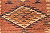 Kilim Brown Runner Hand Knotted 55 X 103  Area Rug 100-28080 Thumb 6
