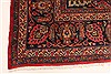 Kashan Red Hand Knotted 99 X 125  Area Rug 100-28129 Thumb 10